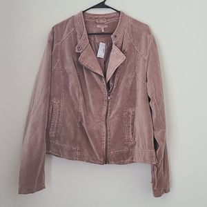 NWT Maurices Velvet Moto Jacket